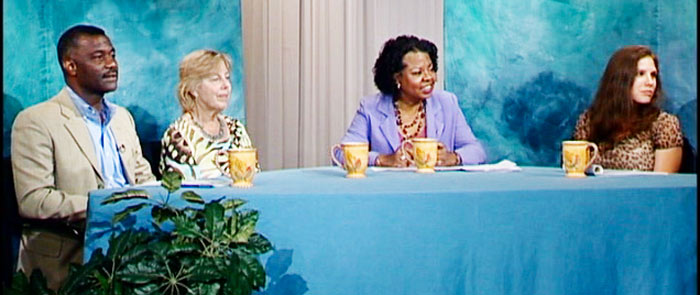 Photo of participants in the Talking with Henrietta show on affordable housing