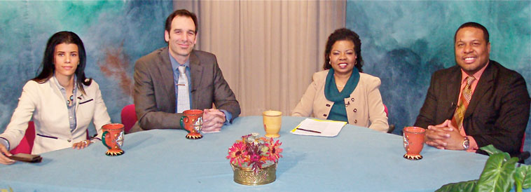 Photo of participants on the TV show on How To Be A Better You In 2013
