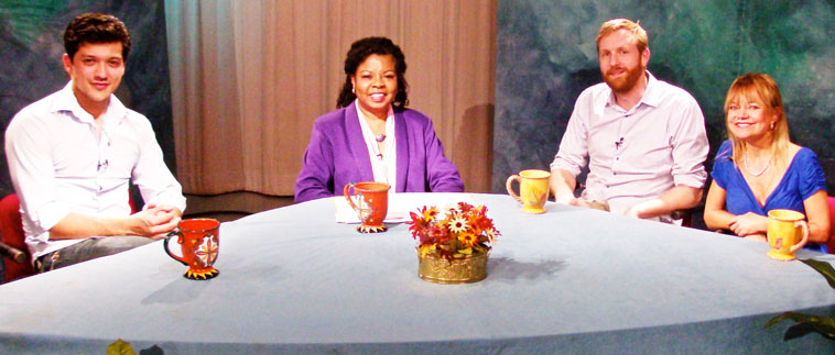 Photo of participants on the TV show on Personal Creativity