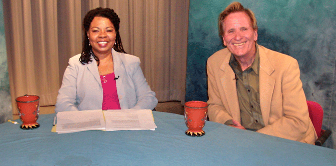 Photo of Henrietta J. Burroughs with show guest Doug McConnell