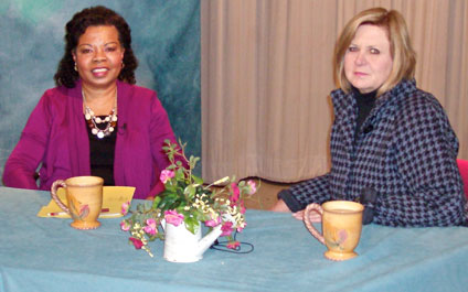Photo of two participants from the Talking with Henrietta show on sequestration