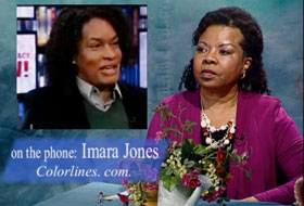Imara Jones and Henrietta J. Burroughs during show discussion