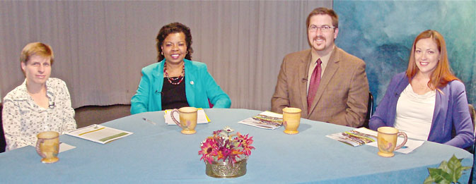 Photo of guests on the show discussing sustainability and where our nation is headed