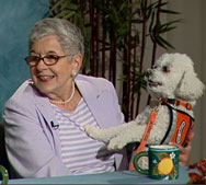 Guest Carmen Lee with her dog Ceely