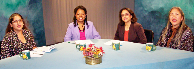 Photo of guests in TV show discussing community health centers