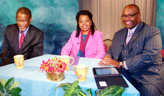 Guests on TV show on corporate diversity in America