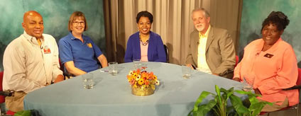Guests on TV show on service clubs